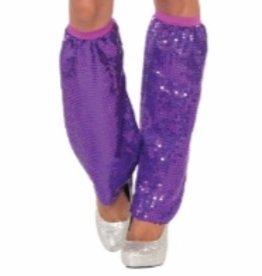 Forum Novelty LEG WARMERS-PURPLE SEQUIN