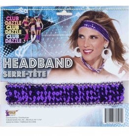 Forum Novelty HEADBAND-PURPLE SEQUIN