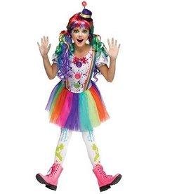FUN WORLD COSTUME ENFANT CRAZY COLOR CLOWN