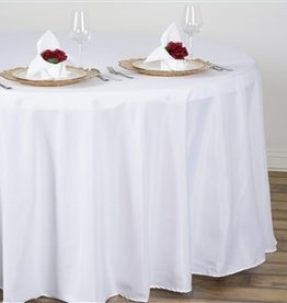 PARTY SHOP ROUND POLYESTER TABLECLOTH - 108IN