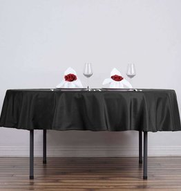 PARTY SHOP ROUND POLYESTER TABLECLOTH 90IN