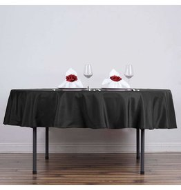 PARTY SHOP ROUND POLYESTER TABLECLOTH - 90IN