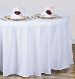 PARTY SHOP ROUND POLYESTER TABLECLOTH 120IN