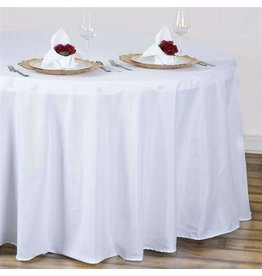 PARTY SHOP ROUND POLYESTER TABLECLOTH - 120IN
