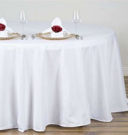 PARTY SHOP ROUND POLYESTER TABLECLOTH 132IN