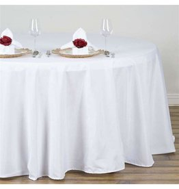 PARTY SHOP ROUND POLYESTER TABLECLOTH - 132IN