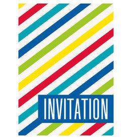 Unique CARTES D'INVITATION (8) - RAYURES ÉCLATANTE