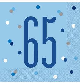 Unique SERVIETTES DE TABLE BLEU (16) - 65ANS