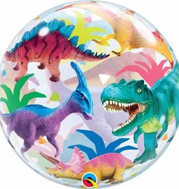 Qualatex BALLONS BUBBLES - DINOSAURS