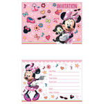 Unique CARTES D'INVITATIONS (8) - MINNIE MOUSE