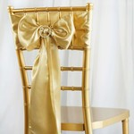 PARTY SHOP BOUCLES DE CHAISE EN SATIN