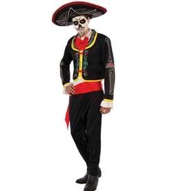 RUBIES COSTUME ADULTE DAY OF THE DEAD SENIOR -STD