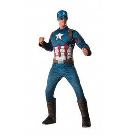 RUBIES COSTUME ADULTE CAPITAINE AMERICA DELUXE