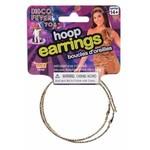 Forum Novelty DISCO-GOLD HOOP EARRINGS