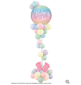 PARTY SHOP BABY SHOWER CENTERPIECE #4 - WITH PERSONNALISATION