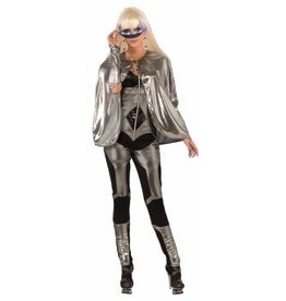 Forum Novelty CAPE-FUTURISTIC-SILVER
