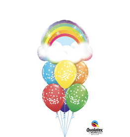 PARTY SHOP BALLOONS BOUQUET #14 - GÉNÉRAL RAINBOW