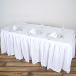 PARTY SHOP POLYESTER TABLE SKIRT - 14FT