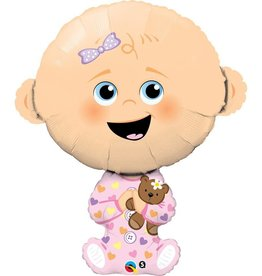 Qualatex BALLON MYLAR SUPERSHAPE BEBE FILLE