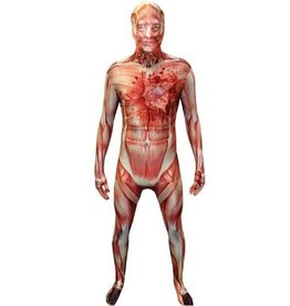 MORPHSUITS COSTUME MORPHSUIT MUSCLE COEUR QUI BAT X-LARGE
