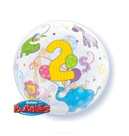 "Qualatex AGE 2 CUDDLY PETS 22"" BUBBLES"