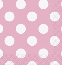 Unique SERVIETTE DE TABLE (16) - POIS ROSE PÂLE