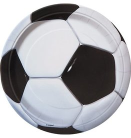"Unique ASSIETTES 9"" (8) - SOCCER"
