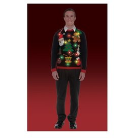 Forum Novelty EVERYTHING CHRISTMAS SWEATR-XL