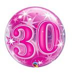 Qualatex BALLON BUBBLES 30 ANS ROSE