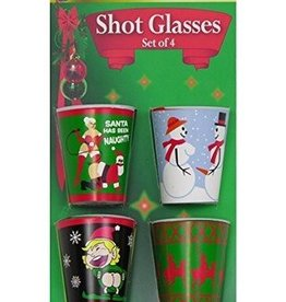 "Forum Novelty CHRISTMAS SHOT GLASSES-""X"" RATED"
