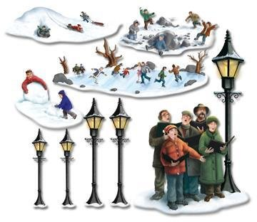 Beistle Co Lampposts Carolers Amp Winter Fun Props Party