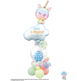 PARTY SHOP MONTAGE BALLONS #31 - LICORNE ET NUAGE