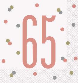Unique SERVIETTES DE TABLE ROSEGOLD (16) - 65ANS