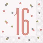 Unique SERVIETTES DE TABLE ROSEGOLD (16) - 16ANS