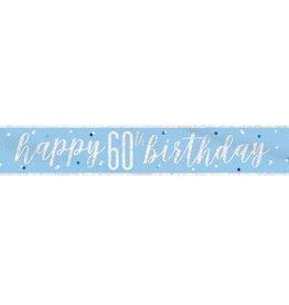 """Unique BANNIÈRE """"HAPPY 60TH BIRTHDAY""""- BLEU PALE"""