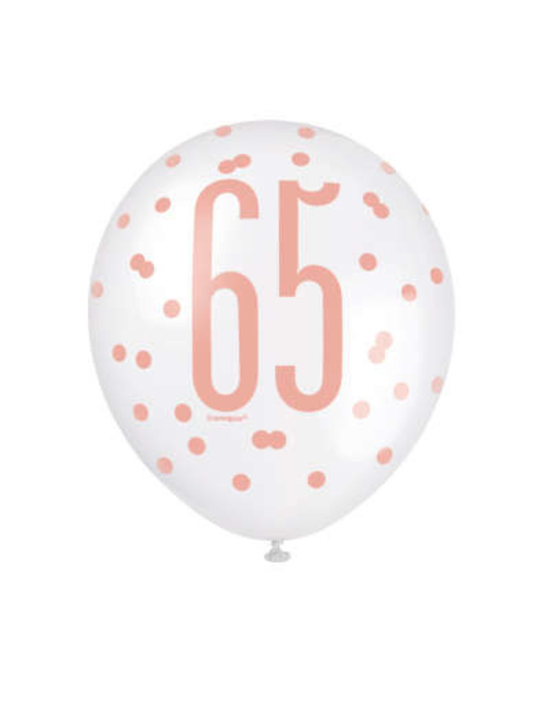 Unique BALLONS LATEX ROSE GOLD (6) - 65 ANS