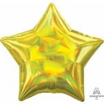 Anagram BALLON MYLAR 18PO - ÉTOILE - IRIDESCENT JAUNE