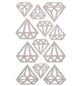 SKD PARTY Copy of AUTOCOLLANTS FORME DE DIAMANT - ROSE GOLD
