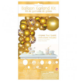 Amscan KIT DE BALLON GUIRLANDE ORGANIQUE - OR