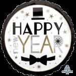 Anagram BALLON MYLAR 18PO - HAPPY NEW YEAR: CHAPEAU ET BOUCLE