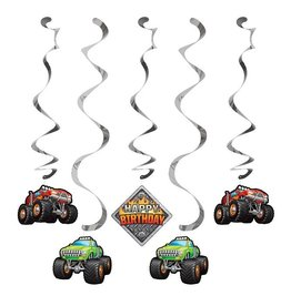 Creative Converting DÉCORATIONS SUSPENDUES - MONSTER TRUCK