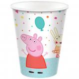 Amscan VERRES 9OZ (8) - PEPPA PIG