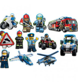 Amscan DÉCOUPAGES EN CARTON (12) - LEGO CITY