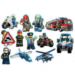 Amscan DÉCOUPAGES EN CARTON - LEGO CITY