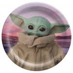 Amscan ASSIETTES 9PO (8)  - MANDALORIAN (Star Wars)