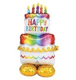 Anagram AIRLOONZ MYLAR GATEAU - HAPPY BIRTHDAY