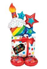 Anagram AIRLOONZ MYLAR CADEAU - HAPPY BIRTHDAY