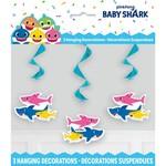 Unique *DÉCORATIONS SPIRALÉES SUSPENDUES (6) - BABY SHARK