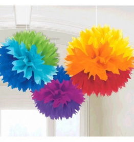 Amscan DÉCORATION SUSPENDU ( FLEUR ) - MULTICOLORE