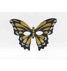 Forum Novelty MASQUE PAPILLON NOIR ET OR